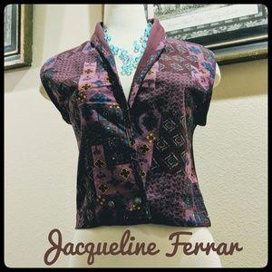 🎉 3/$25 EUC Vintage Jacqueline Ferrer Vest